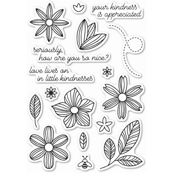 Poppy Stamps Clear Stamps LITTLE KINDNESS CL445*