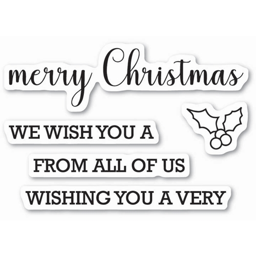 Memory Box Clear Stamps MERRY CHRISTMAS SENTIMENTS Open Studio CL5212 Preview Image