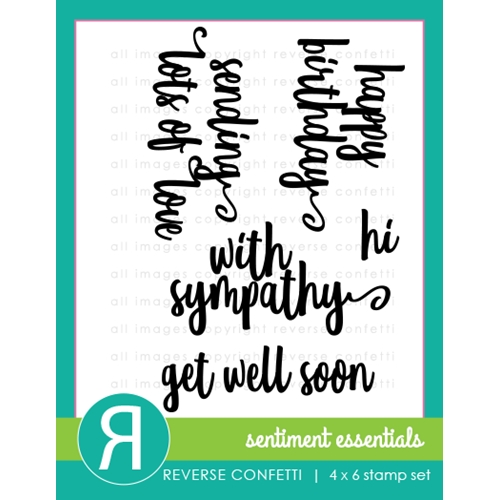 Reverse Confetti SENTIMENT ESSENTIALS Clear Stamp Set  Preview Image