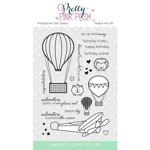 Pretty Pink Posh FLY AWAY FRIENDS Clear Stamp Set* Preview Image