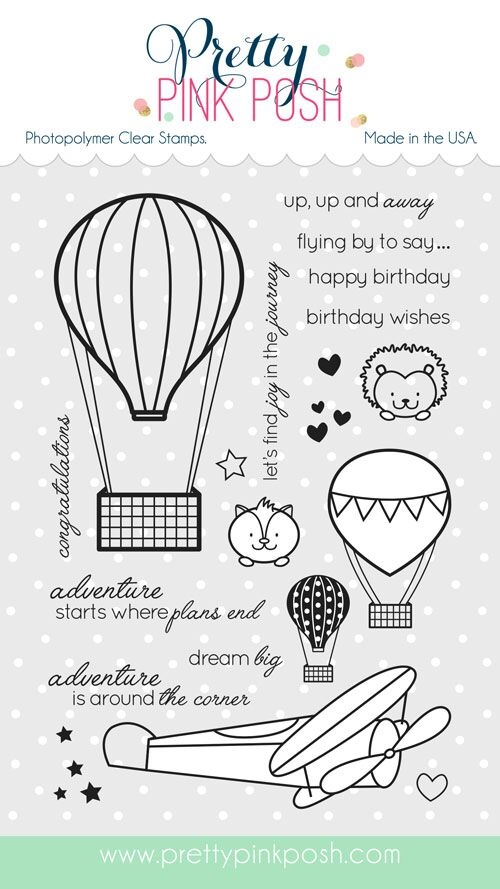 Pretty Pink Posh FLY AWAY FRIENDS Clear Stamp Set* zoom image
