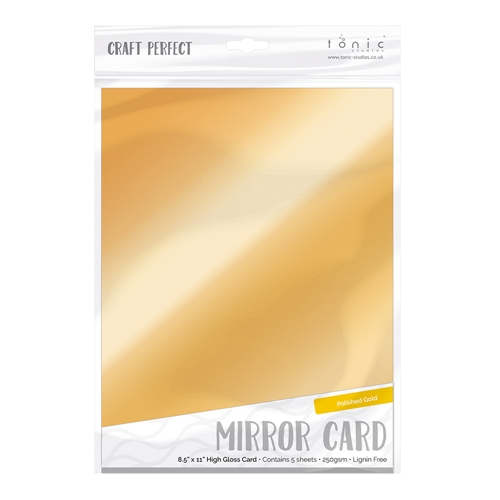Tonic POLISHED GOLD Mirror Card Gloss Cardstock 9451E Preview Image