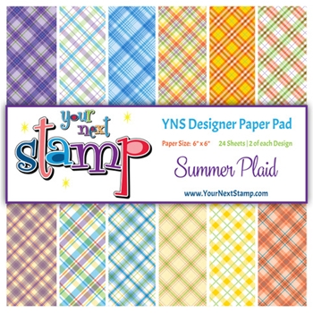 Your Next Stamp SUMMER PLAID 6X6 Paper Pack YNSPP014