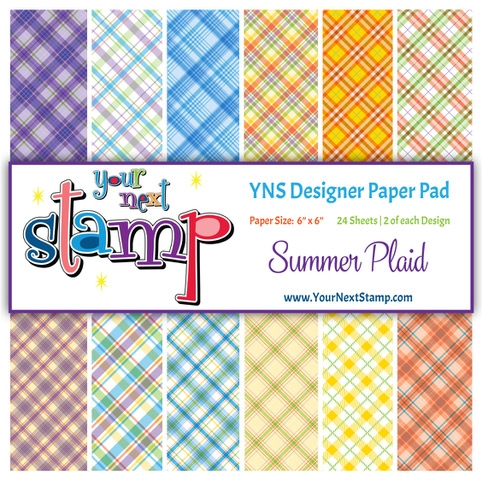 Your Next Stamp SUMMER PLAID 6X6 Paper Pack YNSPP014 zoom image