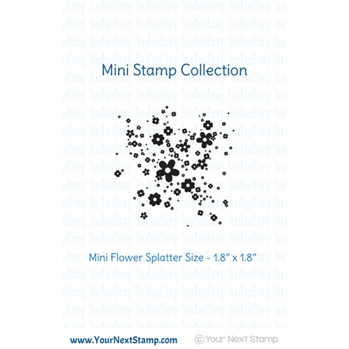Your Next Stamp MINI FLOWER INK SPLATTER Clear CYNS274 Preview Image