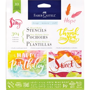 Faber-Castell 304 LETTERING AND CALLIGRAPHY Stencil Set 770606*