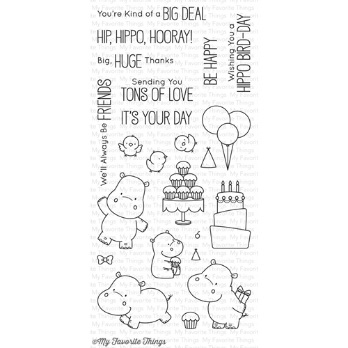 My Favorite Things HAPPY HIPPOS Clear Stamps BB47 Preview Image