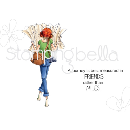 Stamping Bella Cling Stamp UPTOWN GIRL MELINDA HAS A MAP Rubber UM EB518 Preview Image