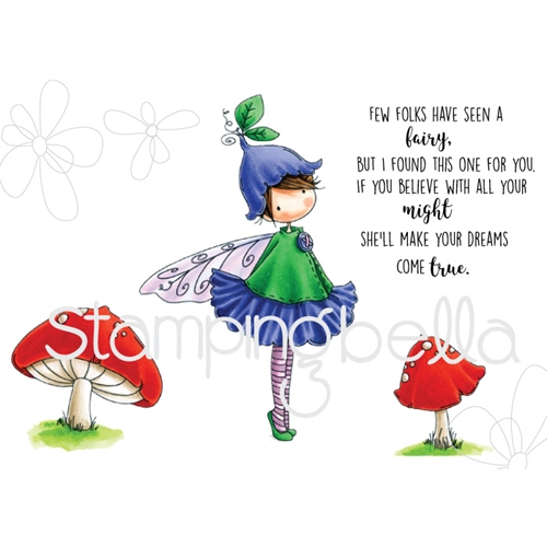 Stamping Bella Cling Stamp TINY TOWNIE FAIRY GARDEN FAIRY Rubber UM EB531* Preview Image