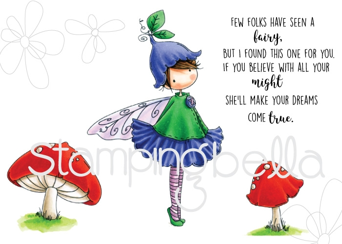 Stamping Bella Cling Stamp TINY TOWNIE FAIRY GARDEN FAIRY Rubber UM EB531* zoom image