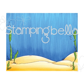 Stamping Bella Cling Stamp UNDER THE SEA BACKDROP Rubber UM EB523