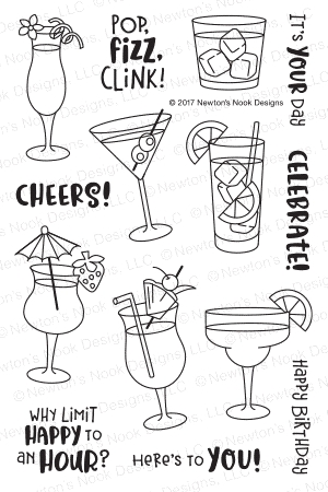 Newton's Nook Designs COCKTAIL MIXER Clear Stamp Set NN1707S02 zoom image