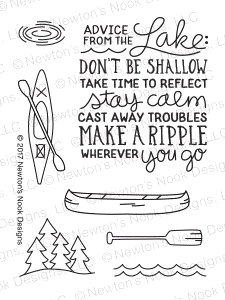Newton's Nook Designs LAKE ADVICE Clear Stamp Set NN1707S06 zoom image