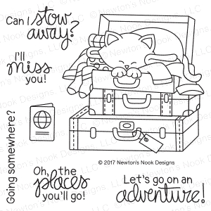 Newton's Nook Designs STOWAWAY NEWTON Clear Stamp Set NN1707S05