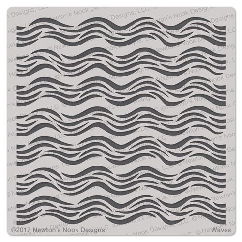 Newton's Nook Designs WAVES Stencil NN1707T04 Preview Image