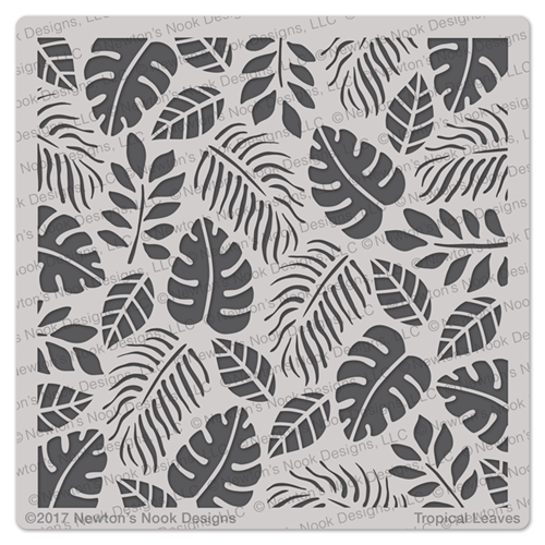Newton's Nook Designs TROPICAL LEAVES Stencil NN1707T02 Preview Image