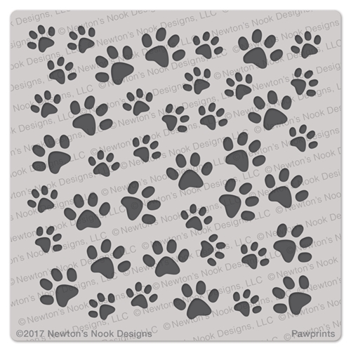 Newton's Nook Designs PAWPRINTS Stencil NN1707T01 Preview Image