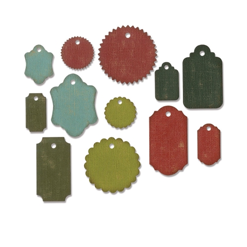 Tim Holtz Sizzix GIFT TAGS Thinlits Die 662423 Preview Image