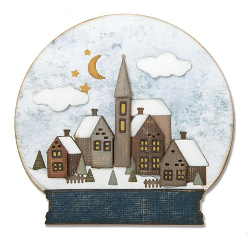 Tim Holtz Sizzix SNOWGLOBE 2 Thinlits Die 662421 Preview Image