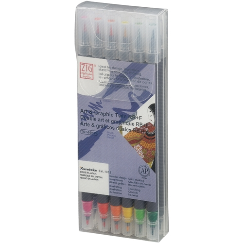 Zig Watercolor System Art and Graphic Twin RB+F BASIC COLORS 12VBA* Preview Image