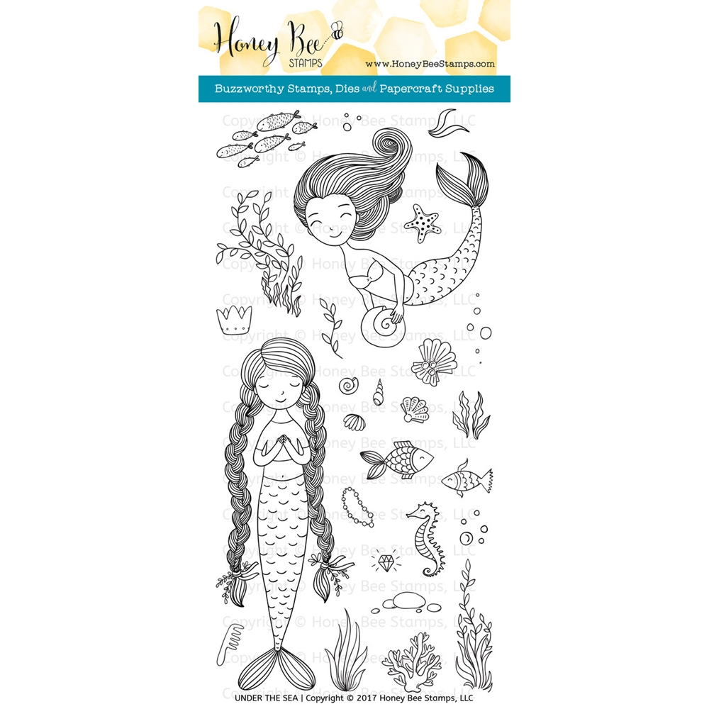 Honey Bee UNDER THE SEA Clear Stamp Set HBST-071* zoom image
