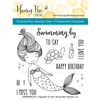 Honey Bee SWIMMING BY Clear Stamp Set HBST-070