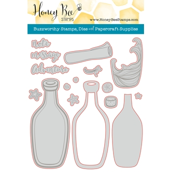 Honey Bee MESSAGE IN A BOTTLE Dies HBDS-068*