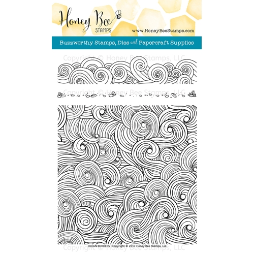 Honey Bee OCEAN BORDERS Clear Stamp Set HBST-067 Preview Image