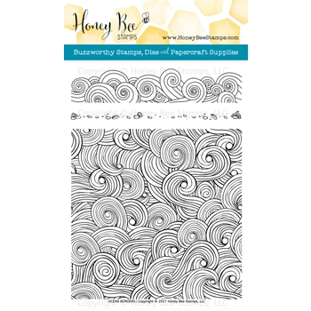 Honey Bee OCEAN BORDERS Clear Stamp Set HBST-067