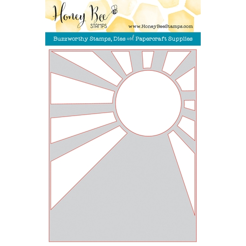 Honey Bee SUNBURST A2 COVER PLATE Die HBDS-SBC Preview Image