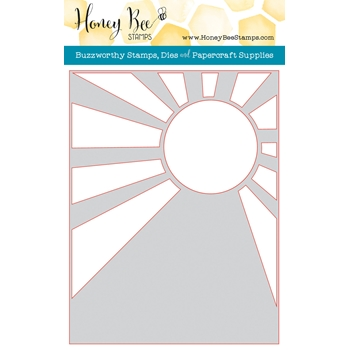 Honey Bee SUNBURST A2 COVER PLATE Die HBDS-SBC
