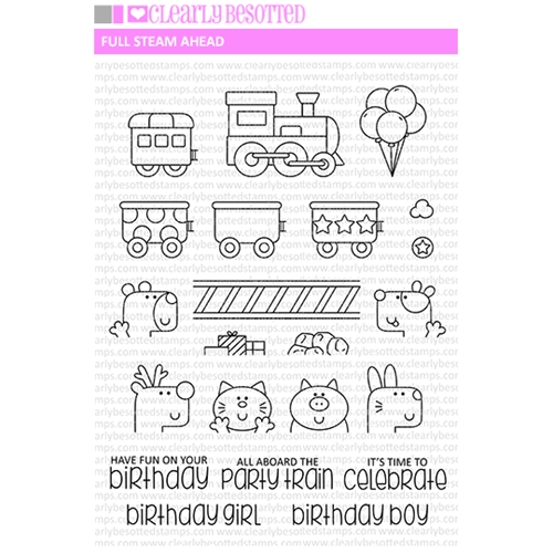 Clearly Besotted FULL STEAM AHEAD Clear Stamp Set Preview Image