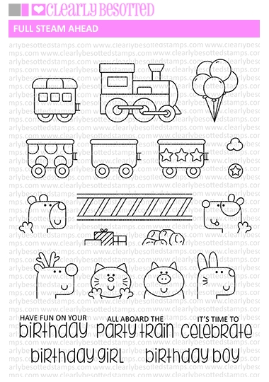 Clearly Besotted FULL STEAM AHEAD Clear Stamp Set zoom image