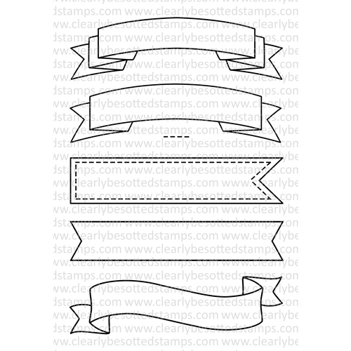 Clearly Besotted BASIC BANNERS Clear Stamp Set Preview Image
