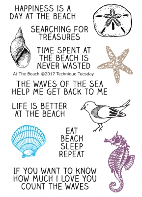 Technique Tuesday AT THE BEACH Clear Stamps 02515 zoom image