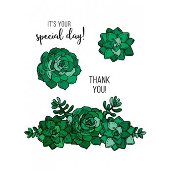 Technique Tuesday SWEET SUCCULENTS Clear Stamps 02524