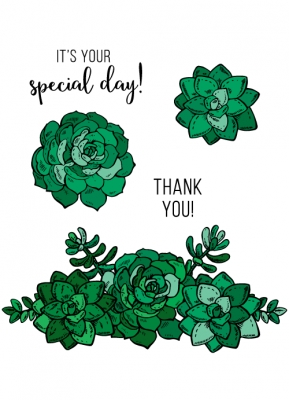 Technique Tuesday SWEET SUCCULENTS Clear Stamps 02524 zoom image