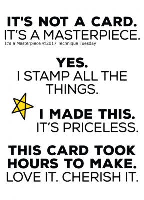 Technique Tuesday IT'S A MASTERPIECE Clear Stamps 02498 Preview Image