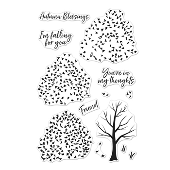 Hero Arts Clear Stamps Color Layering AUTUMN TREES CM191