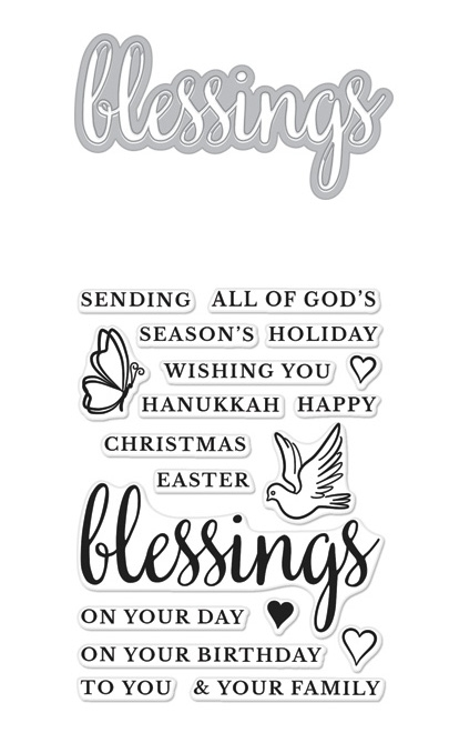 Hero Arts Stamp And Cuts BLESSINGS DC212 zoom image