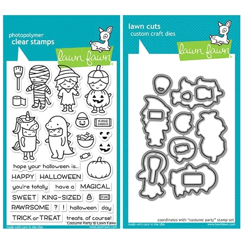 Lawn Fawn SET LF17SETCP COSTUME PARTY Clear Stamps and Dies  Preview Image
