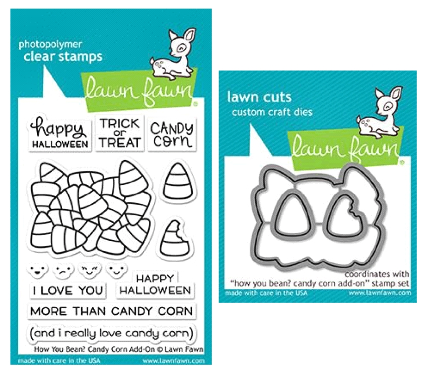 Lawn Fawn SET LF17SETCC HOW YOU BEAN CANDY CORN Clear Stamps and Dies zoom image