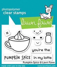 Lawn Fawn PUMPKIN SPICE Clear Stamps LF1462 zoom image