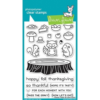 Lawn Fawn FOREST FEAST Clear Stamps LF1464