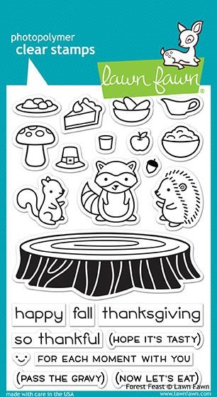 Lawn Fawn FOREST FEAST Clear Stamps LF1464 zoom image
