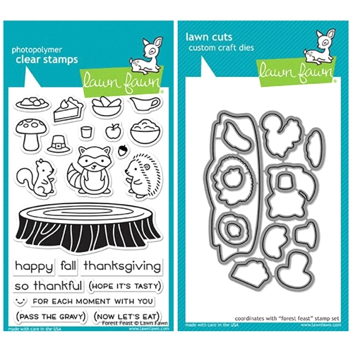 Lawn Fawn SET LF17SETFF FOREST FEAST Clear Stamps and Dies* Preview Image