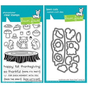 Lawn Fawn SET LF17SETFF FOREST FEAST Clear Stamps and Dies*