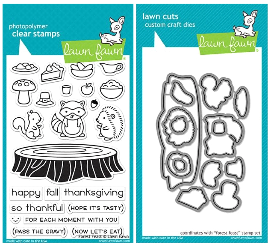 Lawn Fawn SET LF17SETFF FOREST FEAST Clear Stamps and Dies* zoom image