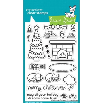 Lawn Fawn CHRISTMAS DREAMS Clear Stamps LF1466