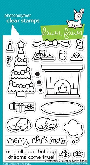 Lawn Fawn CHRISTMAS DREAMS Clear Stamps LF1466 zoom image